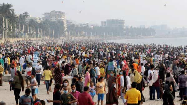 People visit the Juhu Beach, even as Maharashtra sees renewed spike in coronavirus cases, in Mumbai (Image for representation). (PTI)
