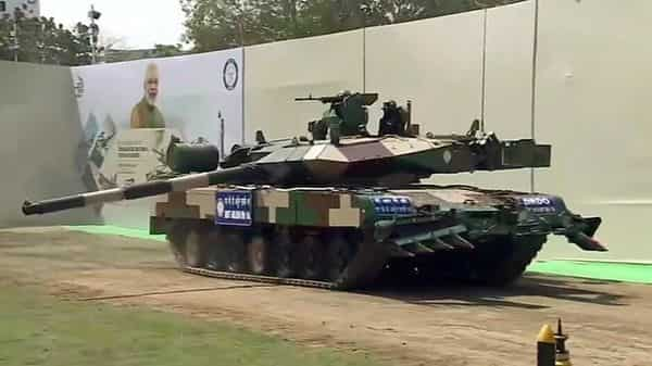 Arjun Main Battle Tank (MK-1A) was handed over to the Army, in Chennai. (ANI)