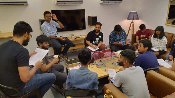 In late 2017, Samir Alam and his friends Likla Lal, Ankit Dayal and Sean D'Souza founded India's first D&D community, Panic Not.