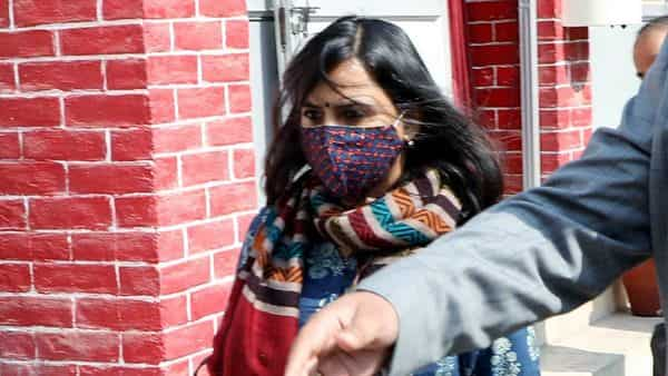 Amazon Aparna Purohit at Hazaratganj police station in Lucknow on Tuesday, after being ordered by the Allahabad High Court to cooperate in the ongoing investigation against the web series 'Tandav'. (ANI Photo)
