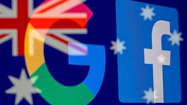The Google and Facebook logos and the Australian flag  (REUTERS)