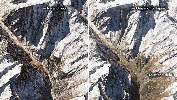 Left image--January 20, Right Image-February 21