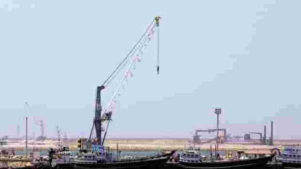 In January, India supplied a consignment of two mobile harbour cranes to the Chabahar port having a total contract value of over $25 million (AFP )