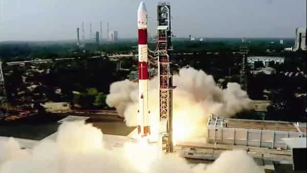 ISRO's PSLV-C51 carrying Amazonia-1 and 18 other satellites lifts off from Satish Dhawan Space Centre in Sriharikota (ANI Photo)