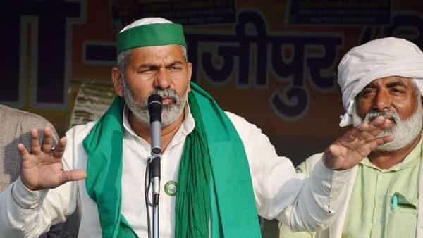 Tikait is leading the protest at Ghazipur. (PTI)
