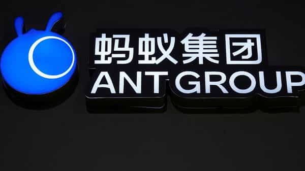 FILE PHOTO: A sign of Ant Group is seen during the World Internet Conference (WIC) in Wuzhen, Zhejiang province, China, November 23, 2020. REUTERS/Aly Song/File Photo (REUTERS)