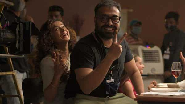 Bollywood filmmaker Anurag Kashyap and actor Taapsee Pannu.