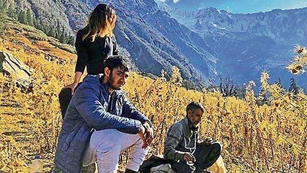 India Hemp Organics co-founders Loveena Sirohi and Rohit Kamath with a hemp farmer in Uttarakhand.