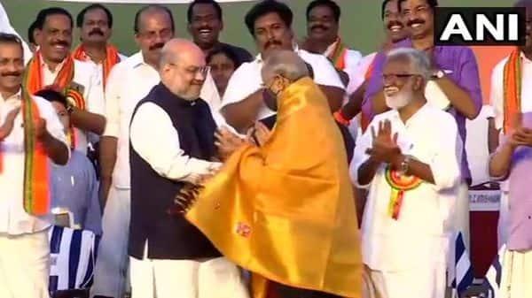 ,Amit Shah, E Sreedharan attend valedictory function for BJP's Kerala Vijay Yatra