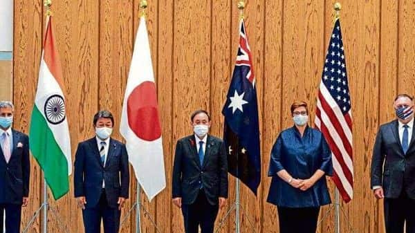 File photo of a ministerial Quad meeting. The US has proposed the idea of holding an online meeting with the leaders of Japan, Australia, and India, a news report said (Reuters)