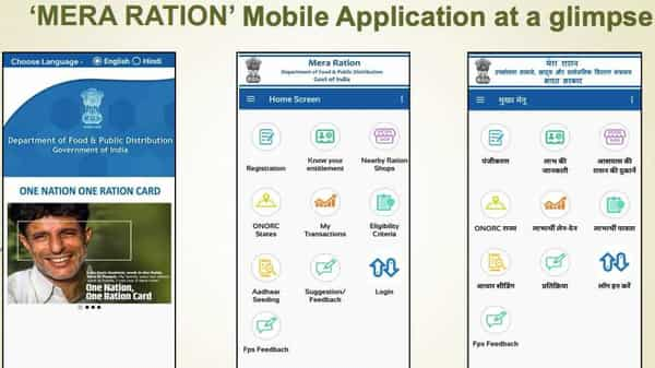 A glimpse of the 'Mera Ration' mobile app (PIB)