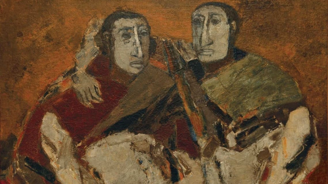 Detail from Tyeb Mehta's 'Untitled (Confidant)', oil on canvas. Property from an important private collection, India