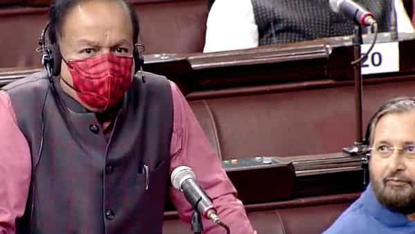 Union Minister Dr. Harsh Vardhan addresses during the second phase of Budget Session of Parliament, in New Delhi on Tuesday. (ANI Photo/RSTV)
