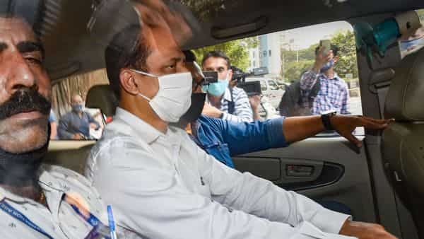 Mumbai Cop Sachin Waze after being produced by National Investigation Agency (NIA) in a court (PTI)