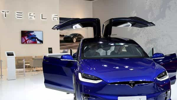 FILE PHOTO: A Tesla Model X electric car is seen at the Brussels Motor Show, Belgium.  (REUTERS)
