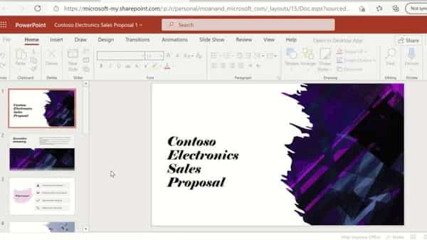 The new feature transforms word documents to online powerpoint presentations