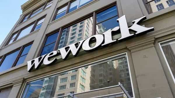 A WeWork logo is seen outside its offices in San Francisco (REUTERS)