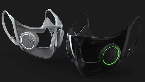 The masks, which have active disc-type ventilators will be transparent, which allows others to see your entire face. (Razer)