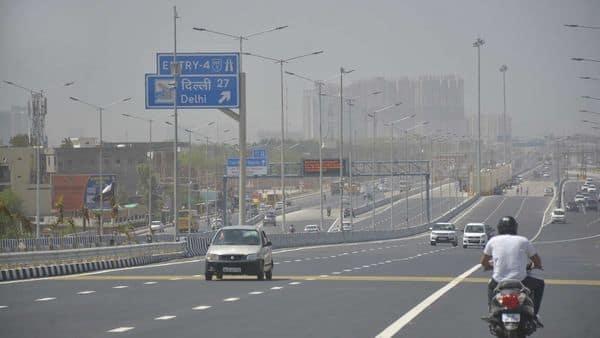 Vehicles ply on Delhi-Meerut Expressway, in Ghaziabad.