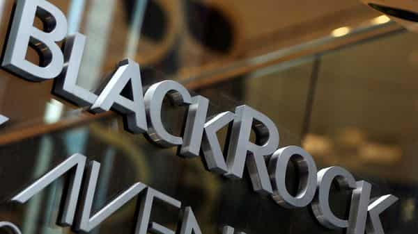 FILE PHOTO: The BlackRock logo is seen outside of its offices in New York. (REUTERS)