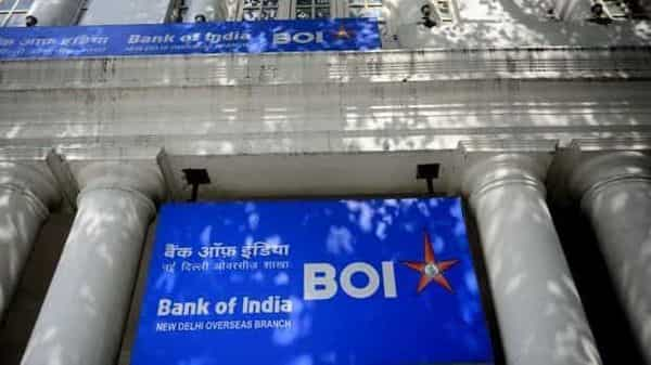 Bank of India shares closed at  ₹67.25 apiece on BSE, down 3.72% from the previous close.  (Photo: Mint)