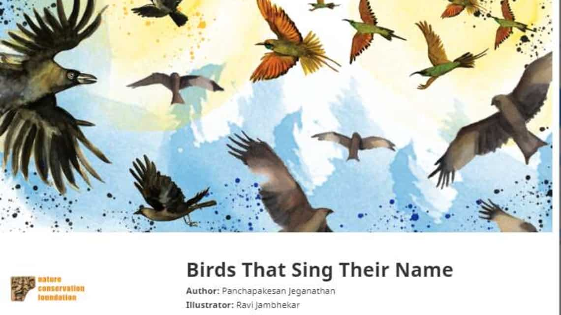The book describes how physical attributes, characteristic, or the way birds call or sing contribute to how they are named