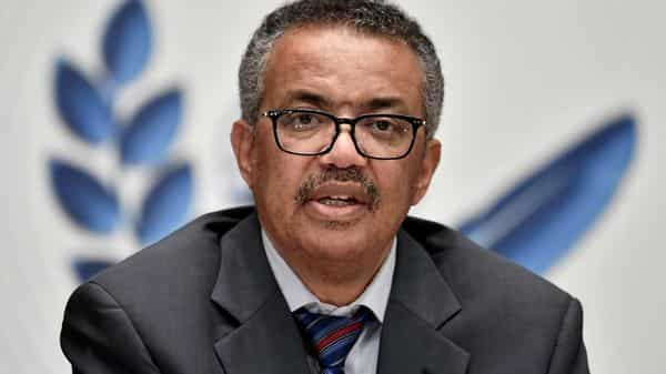 FILE PHOTO: World Health Organization (WHO) Director-General Tedros Adhanom Ghebreyesus attends a news conference  (REUTERS)