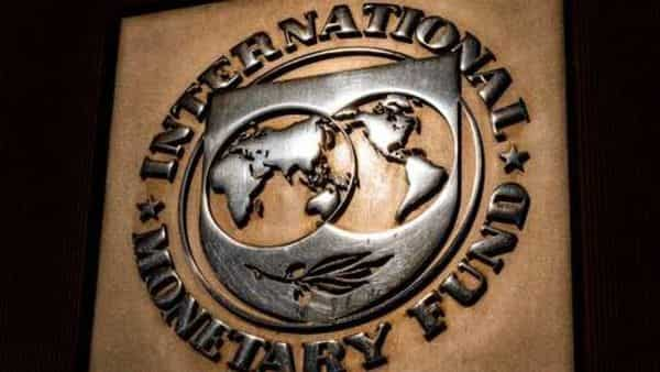 The logo of the International Monetary Fund is visible on their building, Monday, April 5, 2021, in Washington. The IMF and the World Bank open their virtual spring meetings. (AP Photo/Andrew Harnik) (AP)