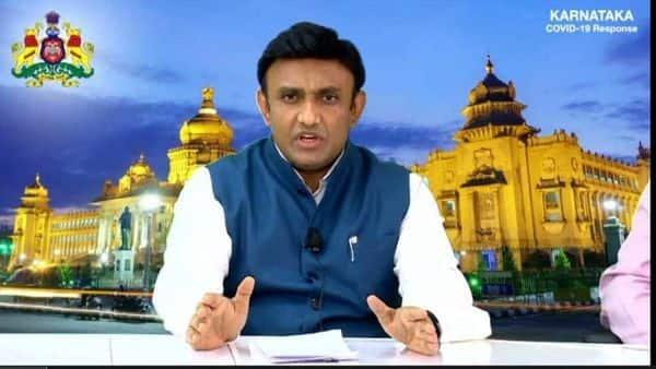 Karnataka's medical education minister K. Sudhakar (Photo: @mla_sudhakar on Twitter)