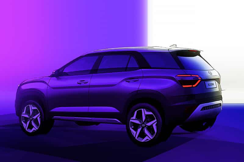 Hyundai has been teasing the new Alcazar SUV that will be 7-seater based on the popular Creta. The Alcazar will be competing with the likes of Tata Safari and MG Hector Plus. The Alcazar has also been revealed under camouflage by the company. The Alcazar will feature an extended tailgate, in comparison to the Creta, to accommodate the third row of seats.