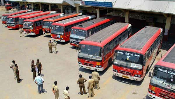 Karnataka bus strike: The protest is against the governments failure to implement a salary under the 6th Pay Commission for the RTC workers. (PTI)