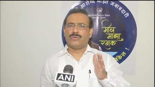 Maharashtra Health Minister Rajesh Tope was briefing the media about concerns he shared with Harsh Vardhan during a video conference yesterday evening. (ANI)