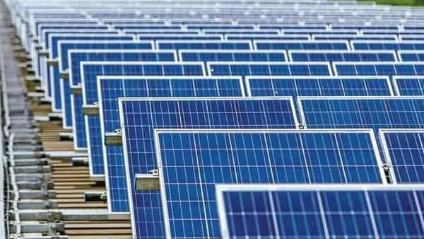 PLI scheme for high efficiency Solar PV Modules' with outlay of Rs.4,500 cr will add 10,000 MW capacity of integrated solar PV manufacturing plants, Trade Minister Piyush Goyal said.  (Bloomberg)