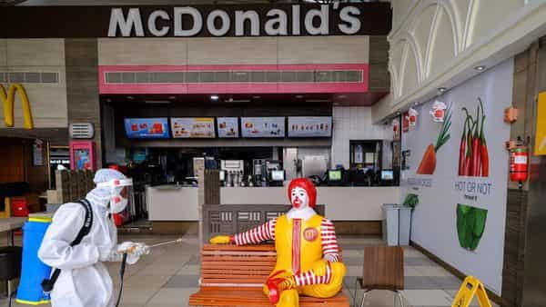 ouble down on its convenience channels of McDelivery, takeaways and on-the-go, as Maharashtra has announced new set of restrictions to arrest the surge in covid-19 infections. (File Photo: Bloomberg) (Bloomberg)
