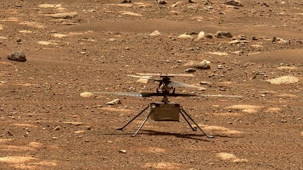 NASA's Ingenuity helicopter unlocking its rotor blades (AFP)