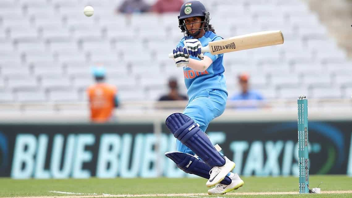 India's Jemimah Rodrigues in action against New Zealand in 2019.
