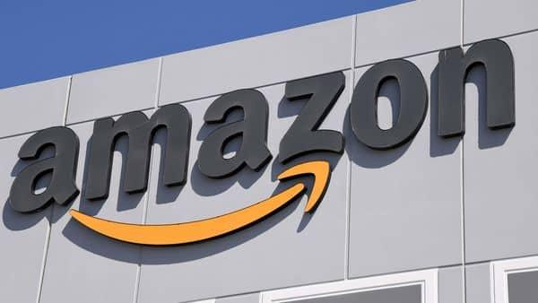 An exterior view shows an Amazon fulfillment center in North Las Vegas, Nevada.  (AFP)