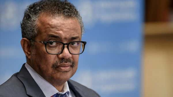 WHO Director-General Tedros Adhanom Ghebreyesus attends a news conference. (REUTERS)