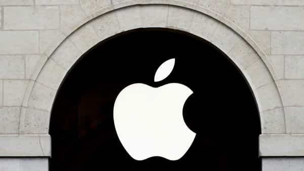 Apple logo is seen on the Apple store at The Marche Saint Germain in Paris (REUTERS)