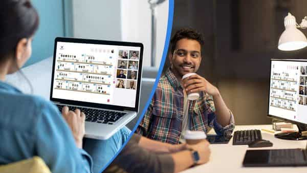 Wurkr uses video platforms to replicate the physical office space online, which allows you to communicate and collaborate with your colleagues in real time and over video, which feels like it is face to face communication. (Wurkr )