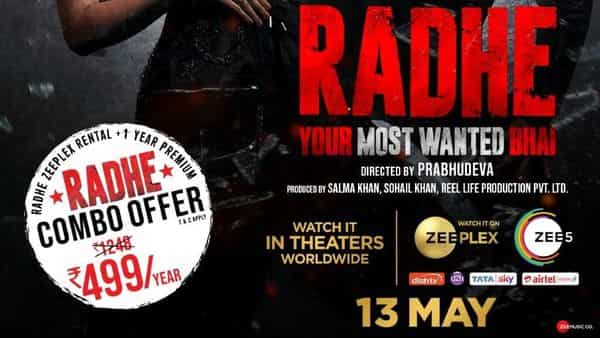 Radhe will arrive in theatres in all Indian states where they are operational on Eid, besides 40 countries across international territories such as the West Asia, North America, Australia, New Zealand, Singapore, Europe and the UK.