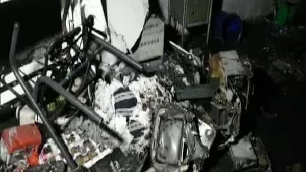 As many as 18 COVID-19 patients died after a major fire broke out at a hospital in Gujarat's Bharuch on Saturday.