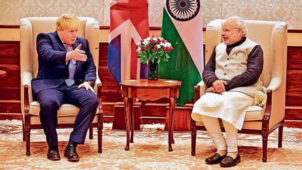 Prime Minister Narendra Modi is expected to meet his UK counterpart Boris Johnson virtually on Tuesday.reuters