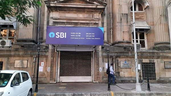 A view of closed State Bank of India in Mumbai. (ANI Photo)