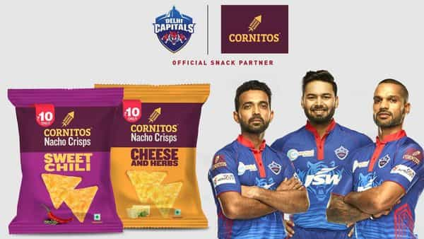 The ad campaign showcases the players of the Delhi Capitals team having a discussion at length about how they can improvize their game and during that discussion they hear the crunch of Cornitos Nacho Crisps that are now available at an economical price of Rs10.