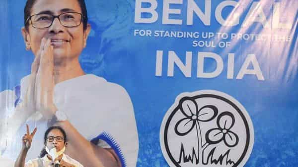TMC chief and West Bengal chief minister Mamata Banerjee during an interaction with media in Kolkata on Sunday, (PTI)
