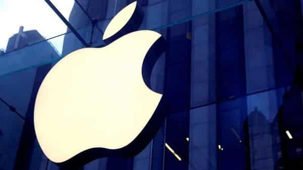 FILE PHOTO: The Apple Inc logo is seen hanging at the entrance to the Apple store on 5th Avenue in Manhattan, (REUTERS)
