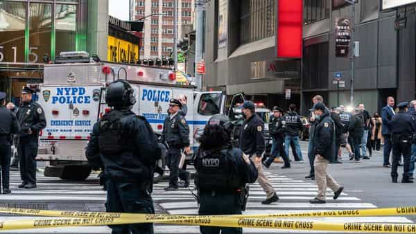 Manhunt after women, toddler shot in Times Square in 'senseless' act