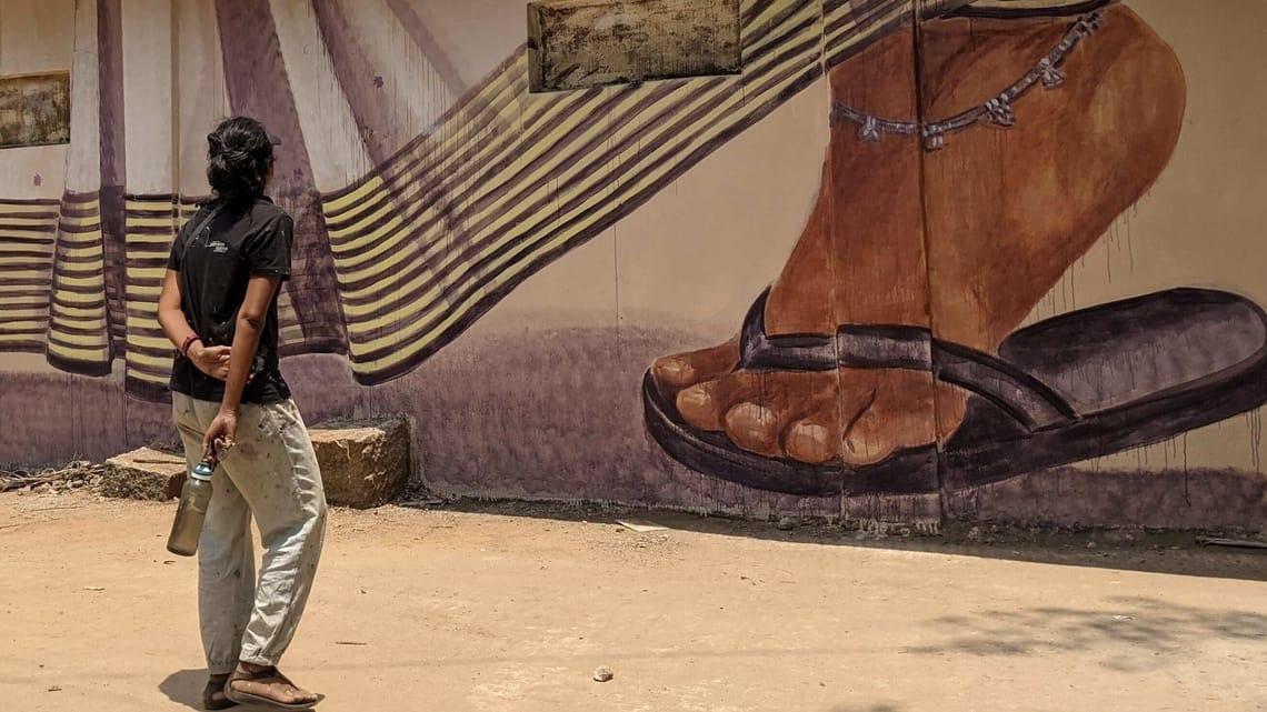 An artwork from the 'Malleshwaram Hogona' project in Bengaluru.