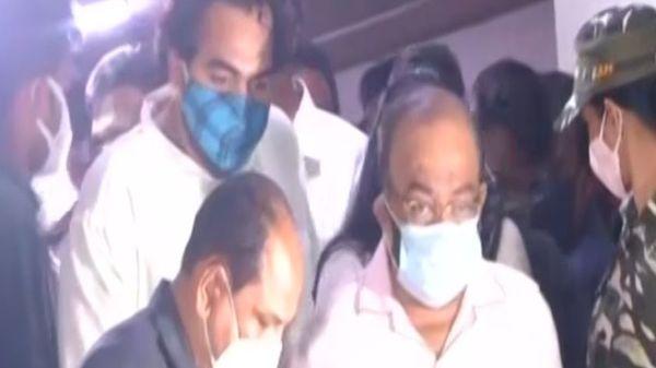 TMC leaders leave CBI office. (ANI)